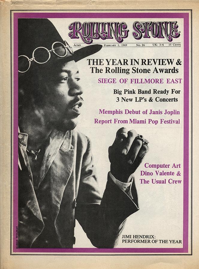 Jimi Hendrix Rolling Stone cover