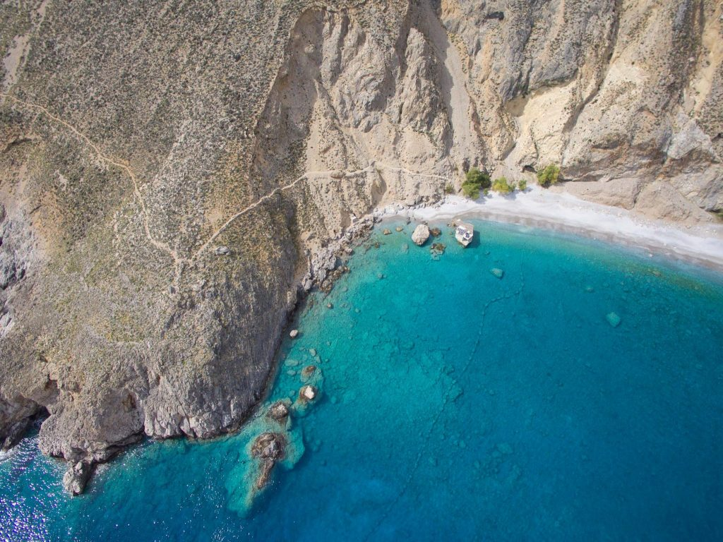 Glyka Nera Beach Sweet Water Beach Crete Greece
