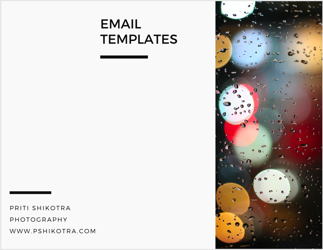 Photography Business Email Templates