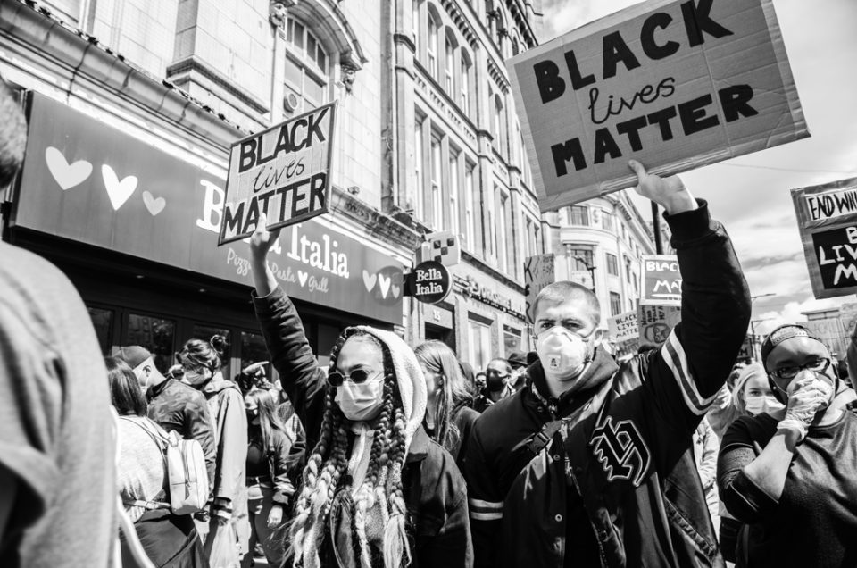 black lives matter manchester peaceful protest june 2020