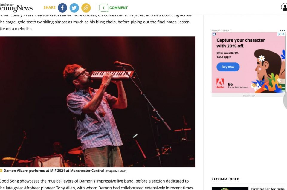 Damon Albarn – Published to Manchester Evening News Online